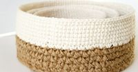 Stacking Baskets Crochet Pattern Rustic Home Decor by JaKiGu pattern is $7.50