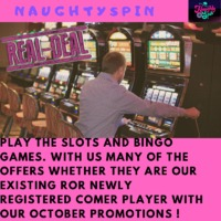 NaughtySpin which helps the slot players to give them a many of the slots and bingo games at a single platform and with many of the trophies with our October Promotions ! Let it Play!