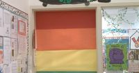 Dont like the door but the pot of gold is cute. March classroom door