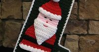 Click here to download a printable PDF for this pattern: santastocking A bit of history regarding this pattern: As a child, one of my great-aunts crocheted pers