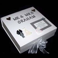 personalised Wedding Memory Box Silver Large A great wedding gift this wedding memory box can be personalised with the couples titles and surnam http://www.comparestoreprices.co.uk/wedding-gifts/personalised-wedding-memory-box-silver-large.asp
