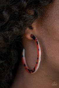 Paparazzi HAUTE Blooded-brown hoops $5.00
