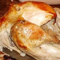 The World's Best #Turkey | Want to know a trick to a flavorful and juicy bird? Add champagne, butter under the skin and use apples in the cavity. People who normally don't like turkey will love this recipe!
