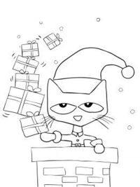 Pete the Cat activities: FREE Pete the Cat Saves Christmas coloring page.