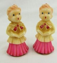 Gurley Novelty Co. 1950's choir boy candles. My Mom had these, along with angels and carolers. She never burned the candles, but used them for decorations year after year.