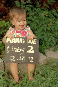 Pregnancy announcement for Baby