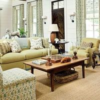 Southern farmhouse living room.