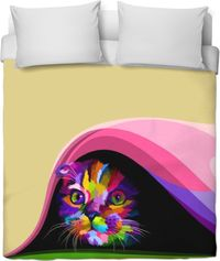 Cat In Hiding Duvet Cover $120.00