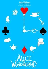 I want this as a clock!!!! Minimal Movie Posters: alice in wonderland