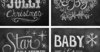 Chalkboard holiday cards from Lily and Val featured on FOXINTHEPINE.COM