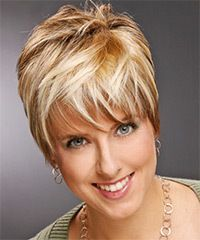 Thehairstyler juxtapost view and try on this short straight casual hairstyle medium blonde copper hair urmus Choice Image