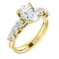 2.0 Ct Oval Diamond Engagement Ring 14k Yellow Gold $10036.02