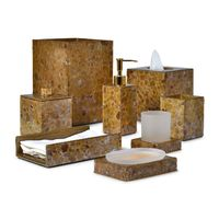 Mica Gold Bath Accessories by Mike + Ally $105.00