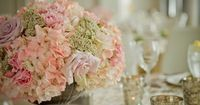 Southern-Chic Pink, Peach and Lavender Centerpieces by The French Bouquet - Zinke Design - James Walton Photo