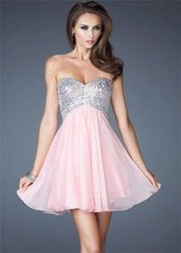 Short Sequin Top Homecoming Dresses 2014