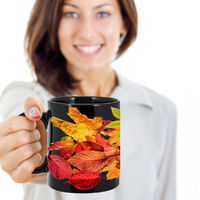 Autumn Leaves, leaves, mug, Samhain, Halloween, holiday mug, fall, seasonal, coffee mug, coffee cup, , fall leaves, leaf $15.95