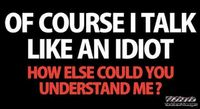 Of course I talk like an idiot sarcastic humor #funny #humor #sarcastichumor #sarcasm #lol #PMSLweb