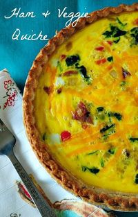 Ham & Veggie Quiche |Suzanne www.you-made-that.com