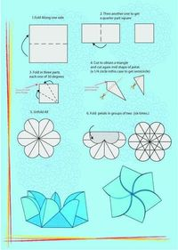 They can be made with any type of paper. You can use them as a card with a message in the center -when opened-, as a simple flower when closed, as a cute bo...