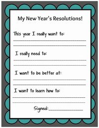 A sweet way to celebrate the New Year! A Kid Friendly New Year's Resolution Printable.