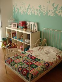 Rita and I both love these and its already set up with her name and everything!! Plus, she has this bookcase and bed already too! :)