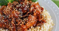 Honey Sesame Crock Pot Chicken - Kitchen Meets Girl