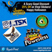 "A Scary Good Discount '�'�"" 25% off on Vinyl Stickers! Happy Halloween 