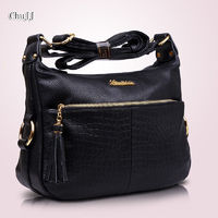 Women's Genuine Leather Handbags All-match Shoulder Cross Body Bags Tassel Messenger Bag R623.70