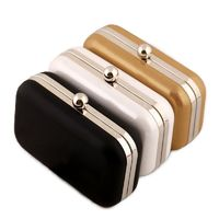 Leather Women Evening Bag / Day Clutch