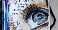 Love this art journal page from