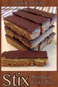 STIX bars! (Like Twix bars, but much healthier ingredients! Paleo/Primal, Gluten free, Grain free, lower-carb option) Absolutely rich and delicious! By www.AuNaturaleNutrition.com