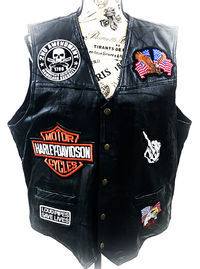 Men's Leather Vest Motorcycle Vest Biker Vest Motorcycle Biker Harley Leather Vest Mens Biker Vest Black Biker Vest Leather Biker Vest $180.00