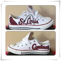"""Adult St. Louis Cardinals Converse ( use coupon code """"STL"""" and save 10% OFF)"""