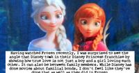 """Having watched Frozen recently, I was surprised to see the angle that Disney took in their Disney Princess franchise by showing how true lo..."