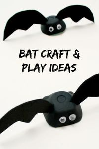 Grab an egg carton and a couple of supplies to make this easy bat craft. Then use it for some of these fun play activities.