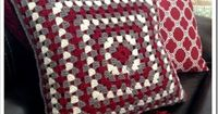 Granny Square crochet pillow