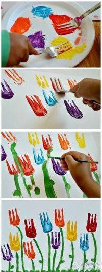 What a cute idea! Little tulips