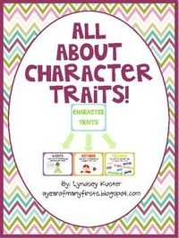 Free Character Trait Posters and Graphic Organizers!