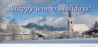 Happy winter holidays cute cover