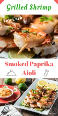 "Shrimp '�'�"" Grilled With Smoked Paprika Aioli"