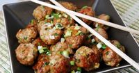 "Asian Style Pork Meatballs Recipe �€"" 3 WW Points + AND they're low carb! These look delicious. - LaaLoosh"
