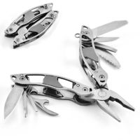 LAOTIE 10 in 1 Stainless Steel Folding Multifunctional Pliers Portable Mini EDC Knife Screwdriver Bottle Opener