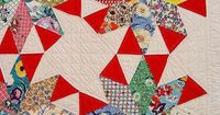 vintage quilt- not usually a big fan of these type of quilts but I like the pinwheel shape in the centre and the movement it seems to give the pattern