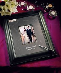 Personalized Black Framed Inscribable Signature Keepsake Mat Kit. I love this signature frame I'm getting the large one to display on my wall.