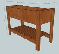 Ana White   Build a Raised Planter Box   Free and Easy DIY Project and Furniture Plans