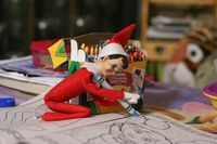 Elf on the Shelf idea - Elf coloring
