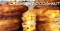 The crispy rings look like large doughnuts but they are flaky like puff pastry and are oozing with melted cheese. We imagine they would taste like cheesy Yorksh