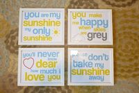 "These would be great for our ""sunflower/sunshine"" bathroom. Free printables."