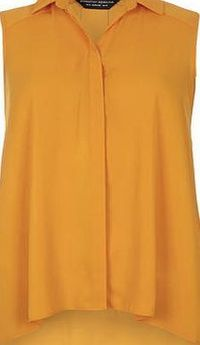 Dorothy Perkins Womens Orange Dip Back Sleeveless Top- Orange Orange sleeveless shirt with dip back and collar detail and a front body length of 66cm. 100% Polyester. Machine washable. http://www.comparestoreprices.co.uk//dorothy-perkins-womens-orange...