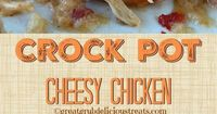 Crock Pot Cheesy Chicken - This crock pot cheesy chicken dinner is cheesy, super flavorful and delicious! Everyone loves a easy meal, this is it! Delicious!